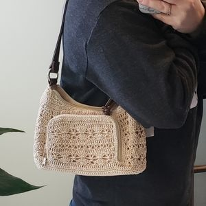 Rosetti knit shoulder purse with wallet